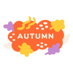 Autumn leaf label