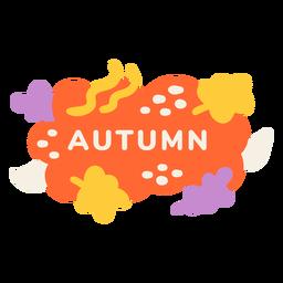 Etiqueta de hoja de otoño
