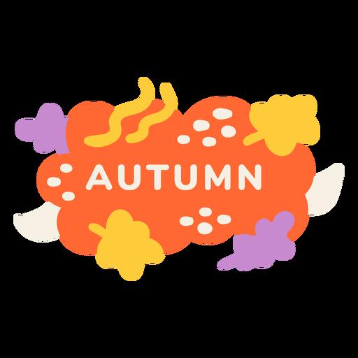 Autumn leaf label Transparent PNG