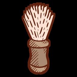 Ilustração de escova de barbeiro