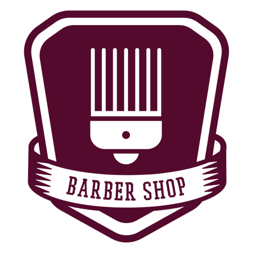 Barber shop badge Transparent PNG