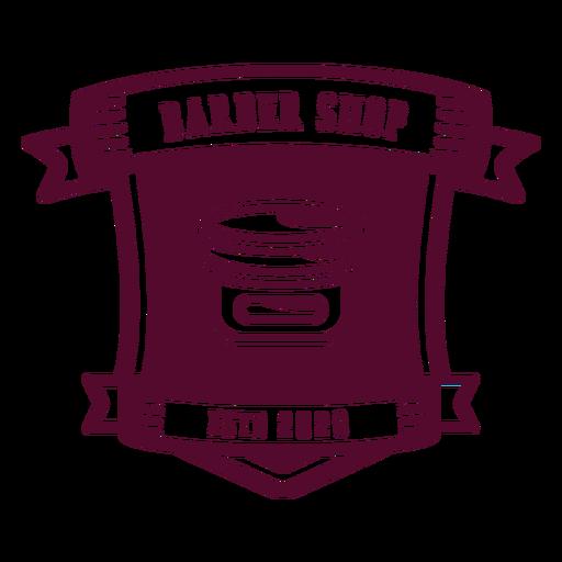 Barber shop established 2020 badge Transparent PNG