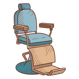 Barbershop chair illustration