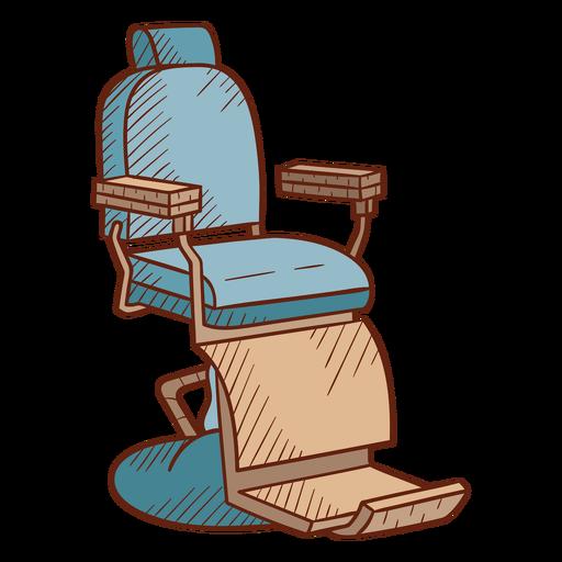 Ilustración de silla de barbería