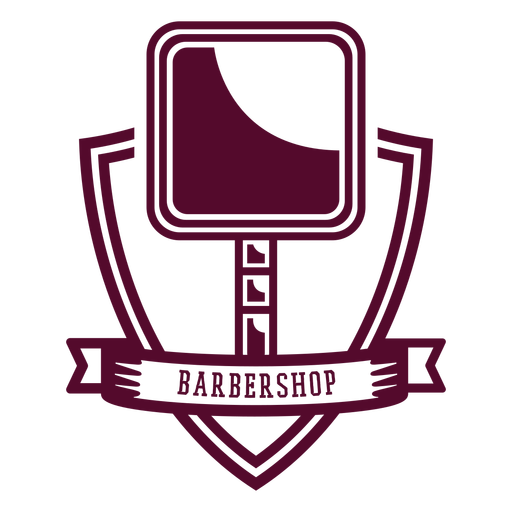 Barbershop mirror badge Transparent PNG