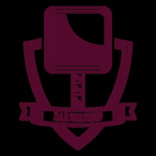Barbershop mirror badge