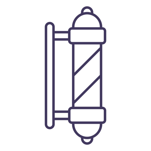 Barbershop pole icon Transparent PNG