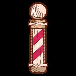 Ilustração de poste de barbearia