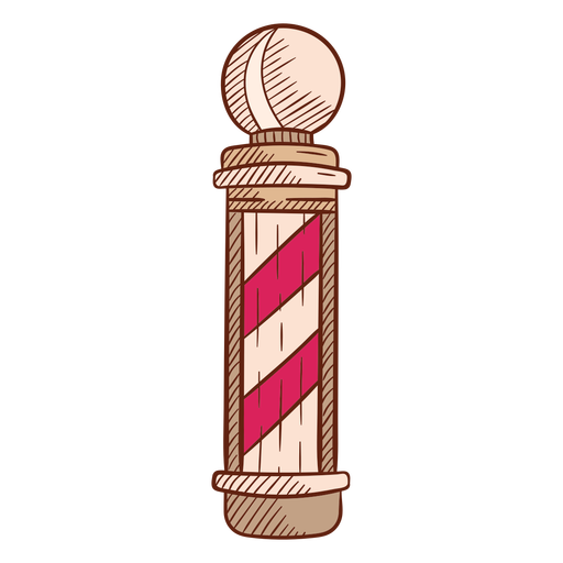 Barbershop pole illustration Transparent PNG