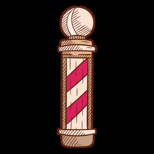 Barbershop pole illustration