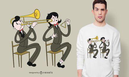 Diseño de camiseta de jugadores de triángulo trombón