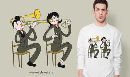 Trombone triangle players t-shirt design