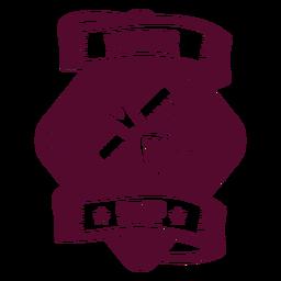 Emblema de pente de tesoura de barbearia