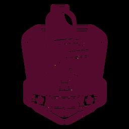 Distintivo de cadeira de barbeiro