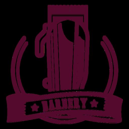 Barbery shaver logo badge