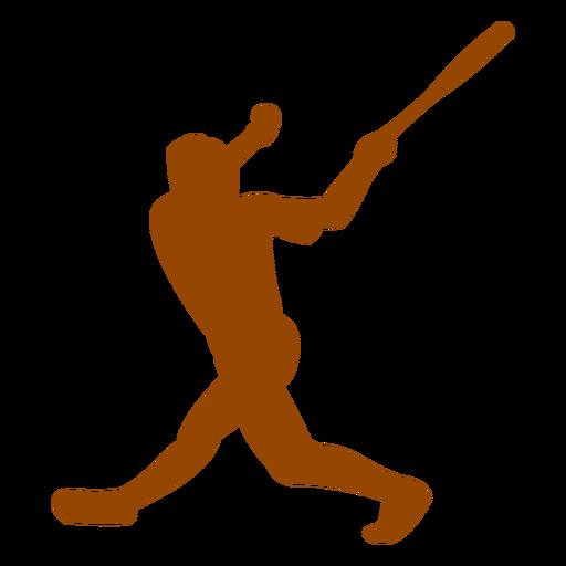 Bateador golpeando la silueta de la pelota