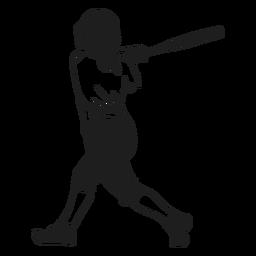 Batter in action black