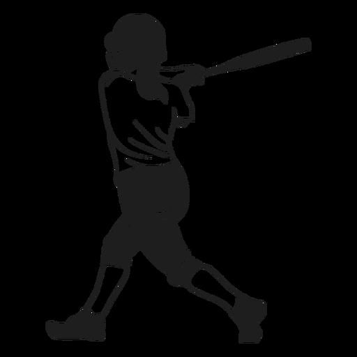 Bateador en acción negro