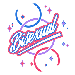 Bisexual sparkly badge