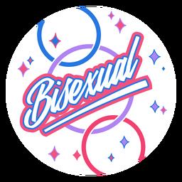 Bisexuelles funkelndes Abzeichen