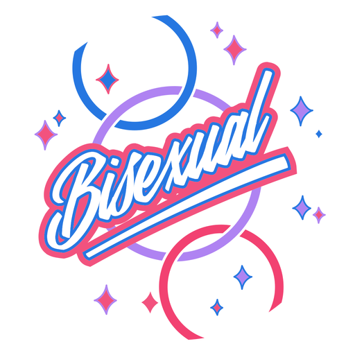 Distintivo brilhante bissexual Transparent PNG