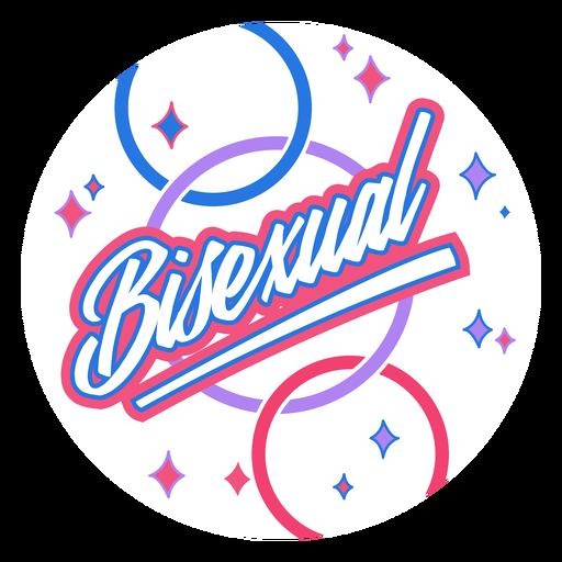 Insignia brillante bisexual