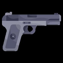 Ilustração de pistola preta
