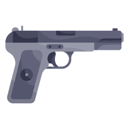Ilustración de pistola negra