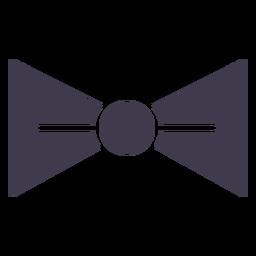 Silhueta de gravata borboleta