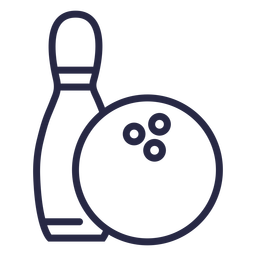 Bowling ball and pin icon