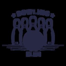 Distintivo de clube de boliche