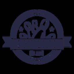 Distintivo circular do clube de boliche
