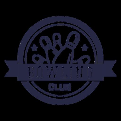 Bowling club circular badge