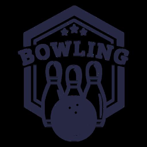 Bowling hobby badge