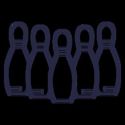 Icono de bolos alineados