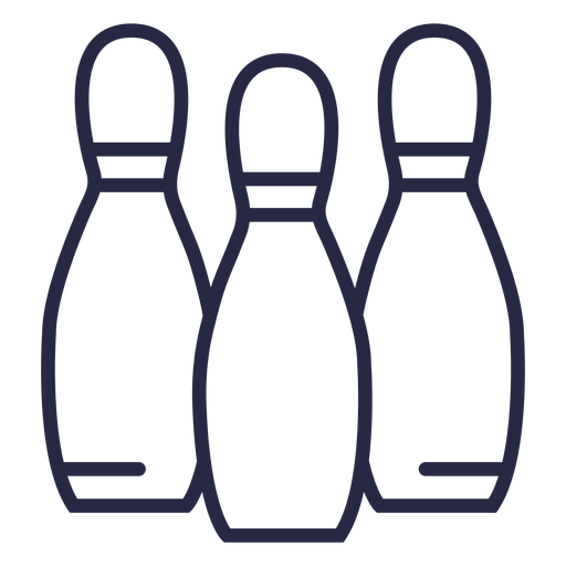 Bowling pins alligned icon bowling