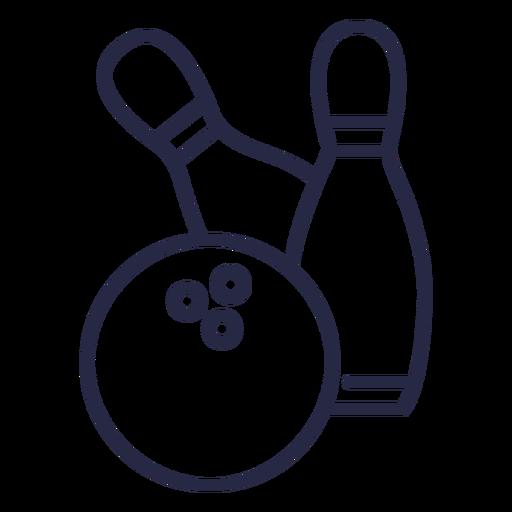 Bowling pins falling icon