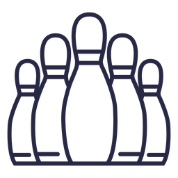 Bowling pins formation icon