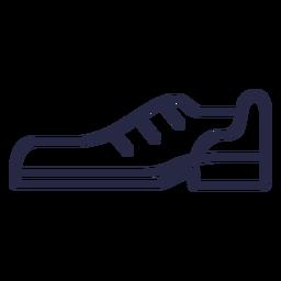 Icono de zapato de bolos