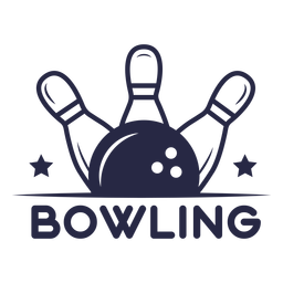 Bowling sport badge