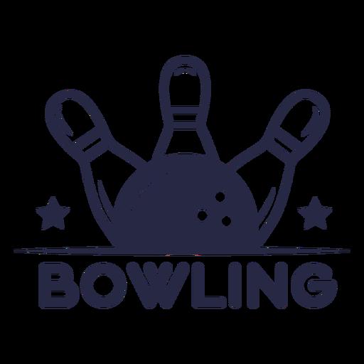 Bowling sport badge