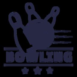 Bowling strike badge