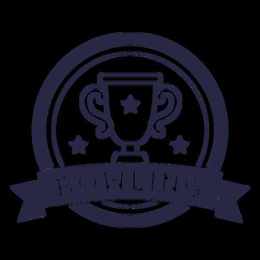 Bowling trophy badge
