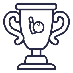 Bowling trophy icon