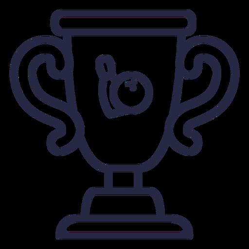 Bowling trophy icon