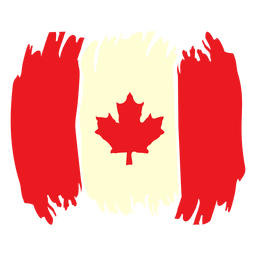 Pincelada bandeira do Canadá plana