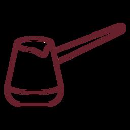 Cezve coffee stroke