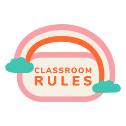 Classroom rules label