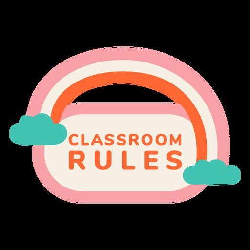 Etiqueta de reglas del aula
