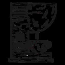 Dibujado a mano detallada máquina de café